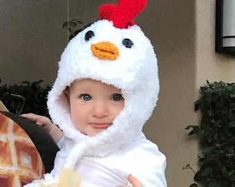 Chicken Hat - Baby Hat -  Baby Chicken Hat - Easter Chick Hat - Chicken Little Hat - Baby Photo Prop - by JoJosBootique