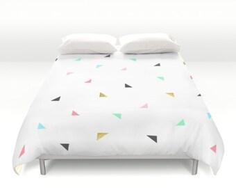 Duvet cover bedding modern geometric