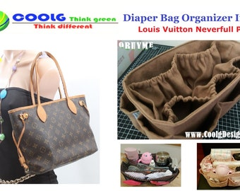 Awesome Diaper Bag organizer insert for LV Neverfull PM + FREE Pacifier Holder /  Made To Order choose your color