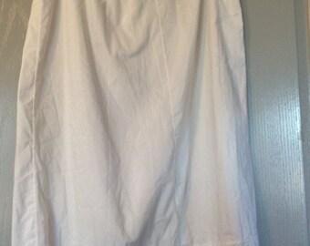 Slip petticoat vintage cotton blend lace hem tag faded 40s/50s medium/large