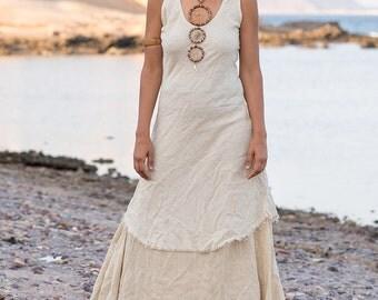 Sleeveless Dress ~ Thin Raw Silk ~