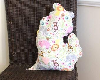 """Michigan """"Mitten"""" Pillow Children's Nursery Pink Animal"""