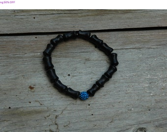 Shop Closing 50% OFF Black Licorice Anniversary Bracelet - Proceeds Benefit Cancer Research