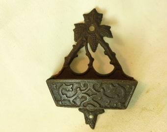 Antique Cast Iron Match Holder - Victorian Match Holder - Vintage Match Holder
