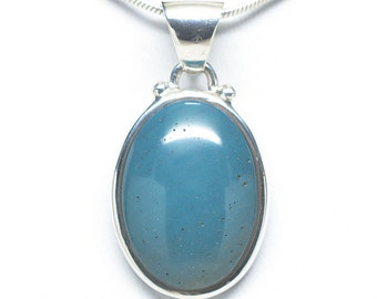 Sterling Silver Leland Blue Oval Pendant - 13mm x 18mm