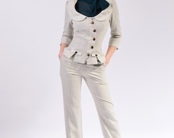 Henrietta Suit with Straight Pants