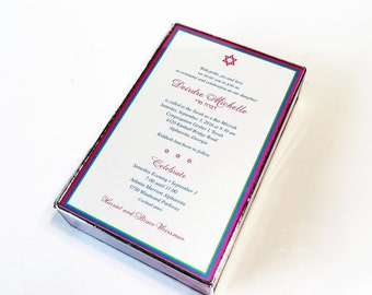 Stained Glass Keepsake Box Bat Mitzvah Invitation with Photograph Graduation Gift Box Wedding Invitation Made-to-Order