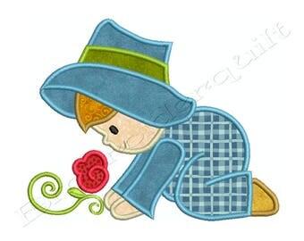 MY GARDEN BOY 1 - Machine Applique Embroidery - Instant Digital Download
