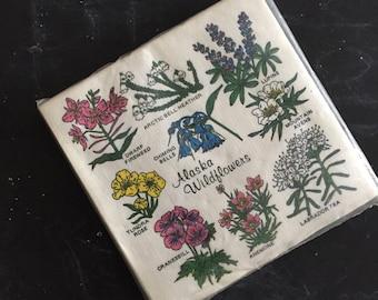 vintage paper flower floral napkins / set / plant lover