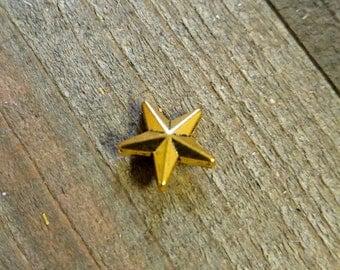 Metal Star Bead Metal Bead Antiqued Gold Bead Gold Star Bead Lone Star Bead Texas Bead 12mm