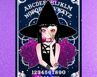 """Ouija Witch - 5""""x7"""" Mini Print"""