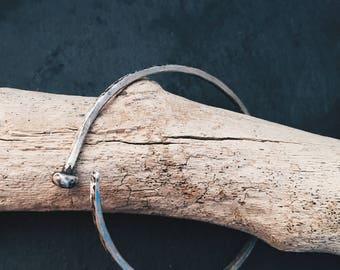 Silver Cuff Bracelet Oxidized Unisex Cuff Bracelet
