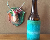 Felted Bottle Cozy - Ocean Stripes
