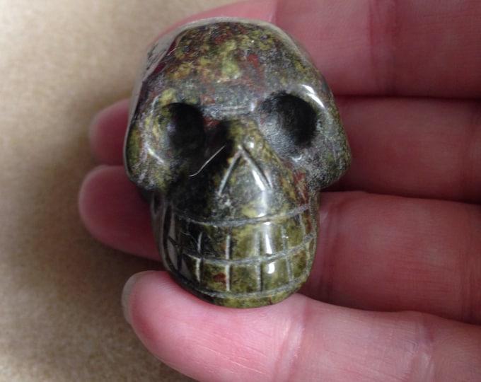Dragon Stone Skull, Jasper Skull, Dragons Blood Jasper Skull, Dragonstone Skull, Skull Carving, Carved Skull, Stone Skull, Gemstone Skull