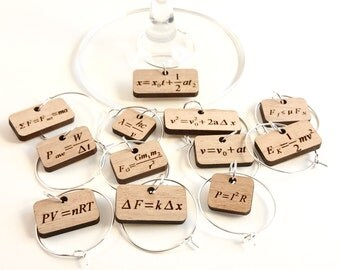 Wine Glass Charms - Physics Equations