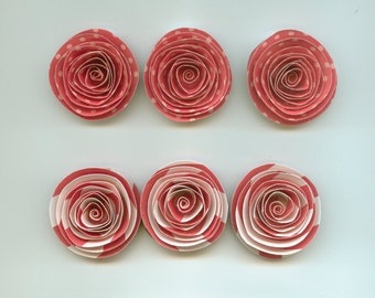 Strawberry Spiral Paper Flowers