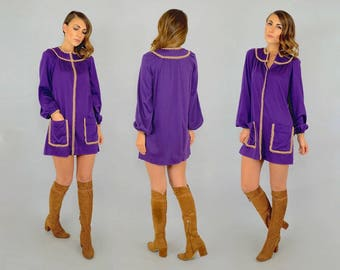60's Purple Mini Dress