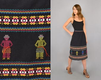 Mexican Embroidered Wrap Skirt