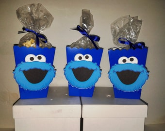 Cookie Monster Snack Boxes - Set of 10