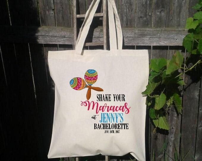 Bachelorette Tote Bag,Shake your Maracas- Wedding Welcome Bag, Wedding Welcome Tote Bag