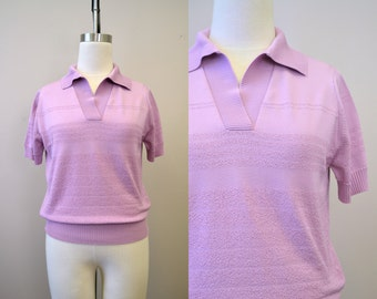 1970s Lilac Collared Sweater