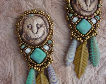 Rustic Owl earrings