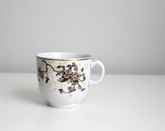 English china coffee cup - vintage Turner's floral tea cup / antique tea cup - hand painted floral cup / antique china cup