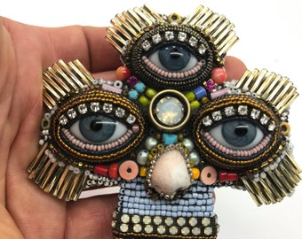 Three Eyed Cross with Eye by Betsy Youngquist