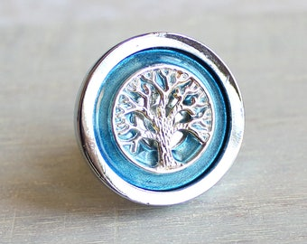 ice blue tree drawer pull decorative drawer pull cabinet knob cabinet pull - Decorative Drawer Knobs