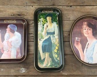 Vintage Coca Cola Trays