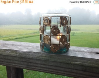Gold Swirl Candle Holder