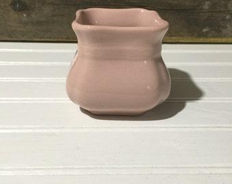 Vintage  Pottery Planter Vase pink buffalo china