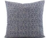 Indigo Blue Indian Pillow, Choose Your Size, Euro Sham Square or Lumbar, Blue Pillow Cover, Throw Pillow, Cushion Cover, Toss Pillow, Priya