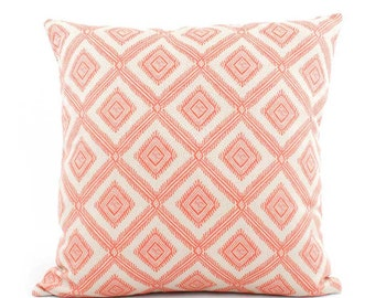 Pink Coral Pillow Cover 18x18, 20x20, 22x22 Eurosham or Lumbar, Coral Pillow, Pink Pillow, Throw Pillow, Toss Accent Pillow, Pineapple Grove