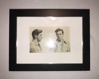 Vintage Framed Convict Mugshot