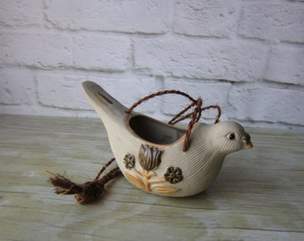 Vintage Hanging Planter Bird Planter Indoor Outdoor Planter