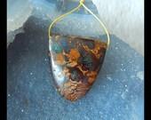 Natural Stone Boulder Opal Gemstone  Pendant Bead,29x26x13mm,15.4g(a0373)