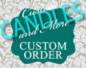 Custom Listing For Unity Candle w/Tapers