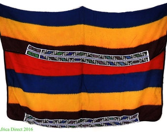 Ndebele Beaded Blanket Traditional Wool South African Art 109560