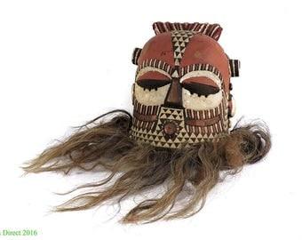 Kuba Helmet Mask Cowrie Shells African Art 109657