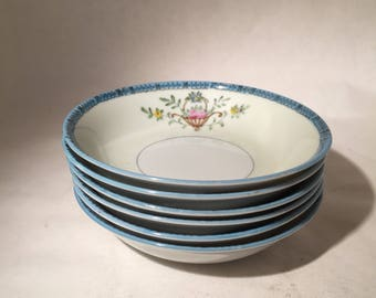 6 Hand Painted Japanese Berry Bowls