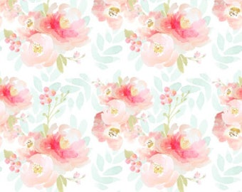 Floral Crib Sheet.Changing Pad Cover. Boppy Cover. Boppy Slipcover.Fitted Crib Sheet. Crib Bedding. Watercolor Floral Bedding. Baby Bedding.