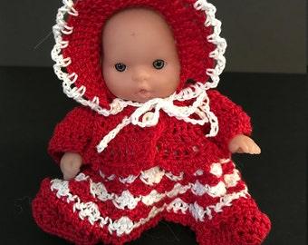 "Sweetheart Dress for 5"" Berengeur Dolls"