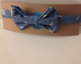 Handmade Bow Tie for Your Little Guy in Chambray Floral