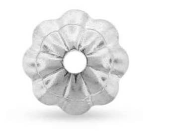 Flower Bead Cap 1mm Hole Sterling Silver 5mm - 50Pcs Wholesale Price (11032)/1