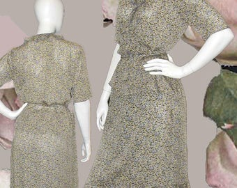 Due per Due Bloomingdale's Silk Floral Crepe Georgette 2 Piece Dress - Size 8-10