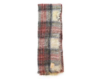 Vintage Hudson's Bay Company 100% Mohair Ancient Dress Stuart Tartan Blanket / Shawl, Made in Scotland