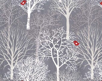 Woodland Winter Woodland Winter Trees Grey CX7495-WINT-D by Michael Miller