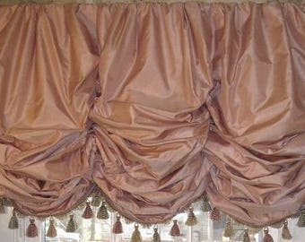 Balloon Shade Valance Over 100 Color Choices