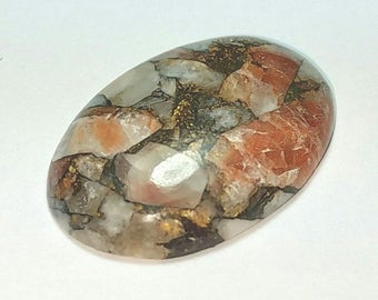 29mm 25.95ct mojave calcite oval cabochon 29 by 20 by 5.5mm